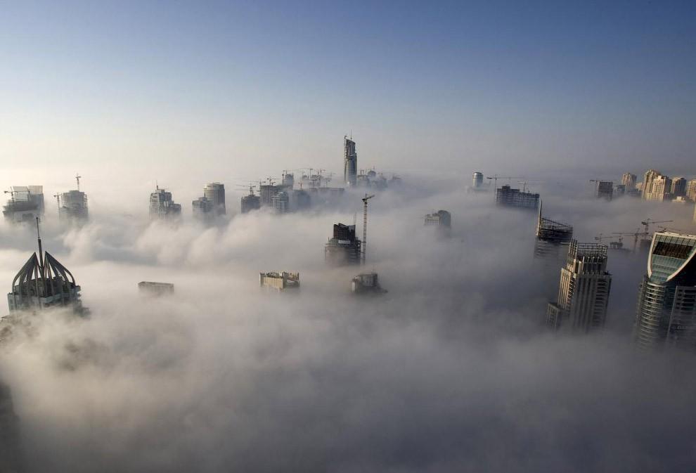 Города в облачном тумане — 17 фото