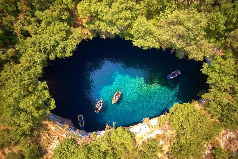 Озеро Мелиссани, Греция