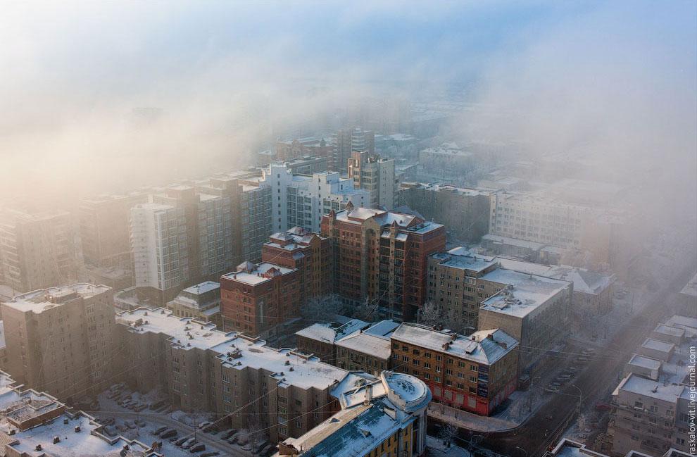 Зимний Красноярск — один из тех городов, куда хочется возвращаться — 39 фото